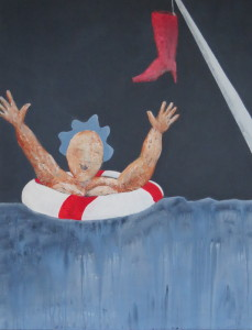 Fru Willendorf i nød 70 x 90 cm