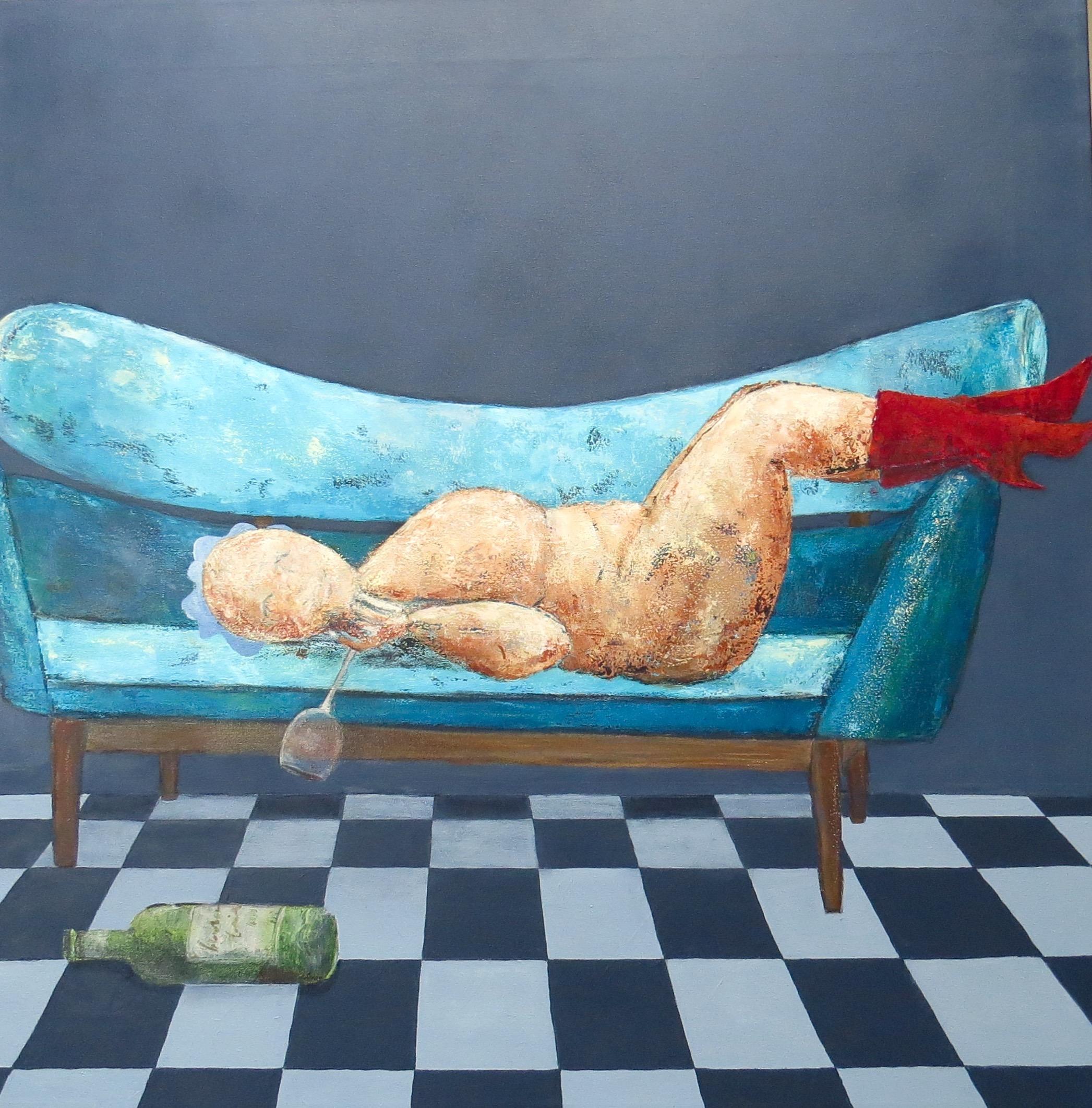 Fru Willendorf: Jeg har ingen lyster...kun laster. 80 x 80 cm