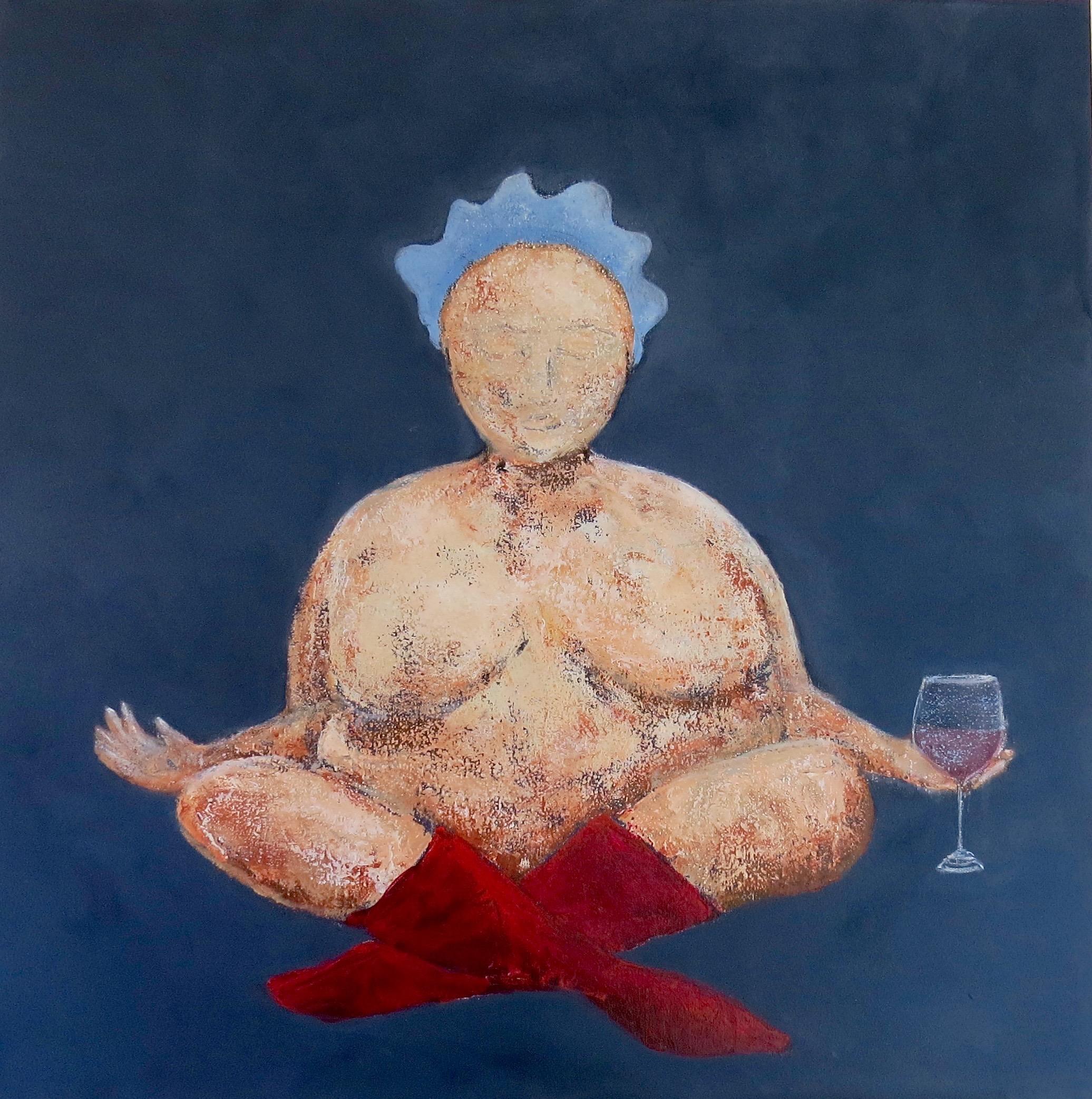 Fru Willendorf mediterer, 50 x 50 cm