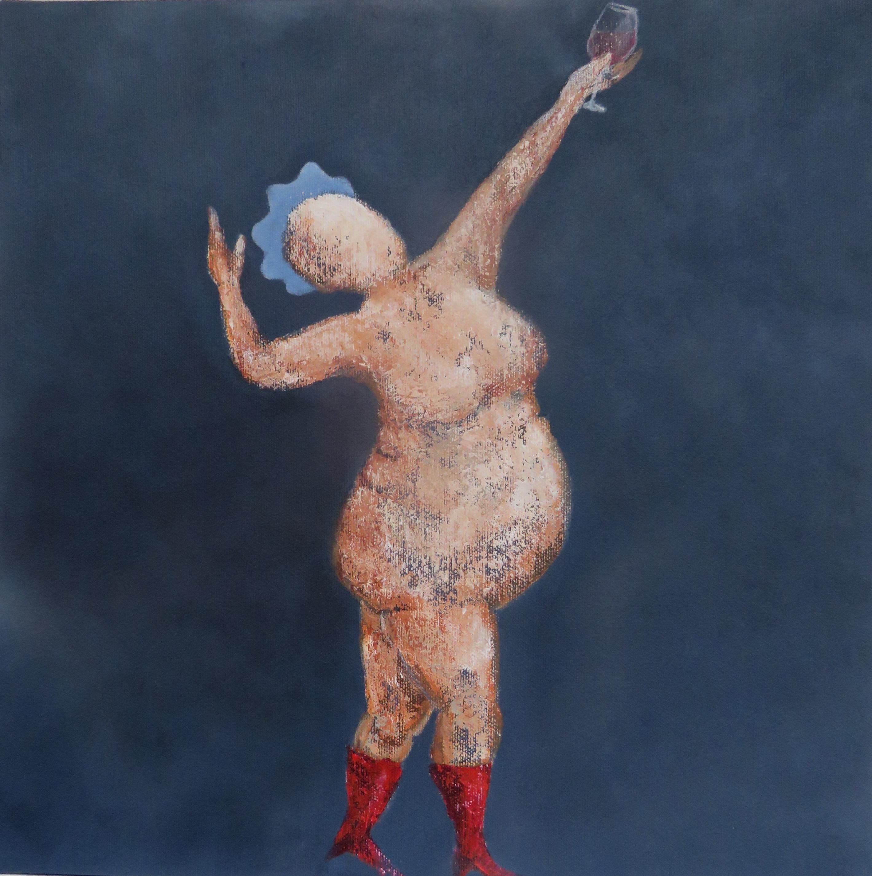 Fru W. Positur 3 40 x 40 cm SOLGT!